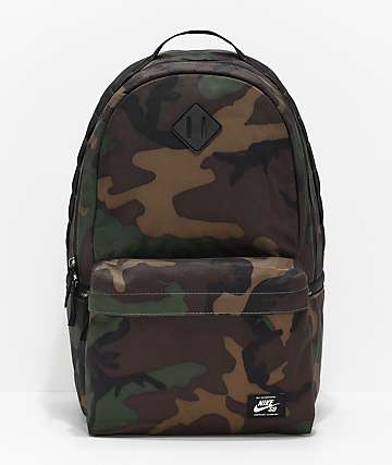 Nike SB Icon Iguana Green Camo Backpack