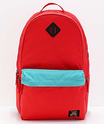 Nike SB Icon Red & Turquoise Backpack