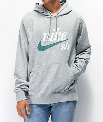 Nike SB Icon Washed sudadera con capucha gris