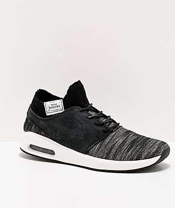 Nike SB Janoski Air Max 2 Black & Chambray Skate Shoes