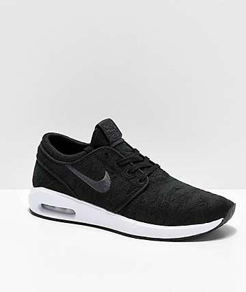 Nike SB Janoski Air Max 2 zapatos de skate en negro y blanco