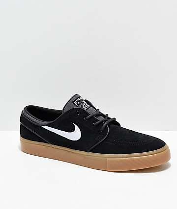 Nike SB Janoski Black & Gum Skate Shoes
