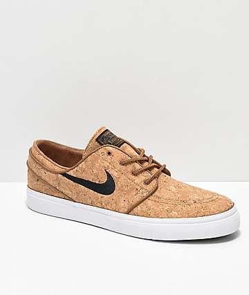 Nike SB Janoski Elite Ale Brown & White Cork Skate Shoes