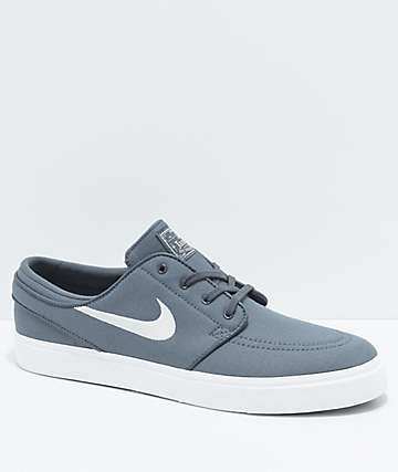 Nike SB Janoski Grey & White Skate Shoes