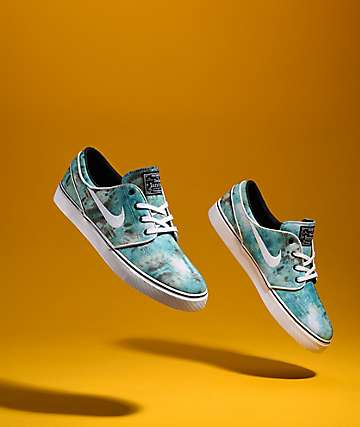 Nike SB Janoski QS Turbo Green Tie Dye Skate Shoes