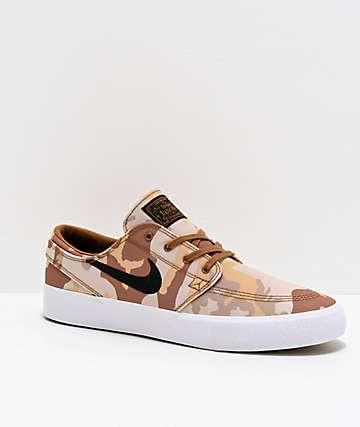 Nike SB Janoski RM Canvas Desert Camo Skate Shoes