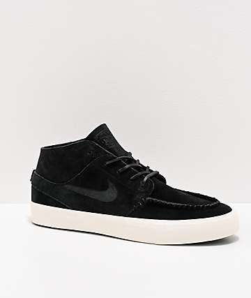 Nike SB Janoski RM Crafted Black & White Skate Shoes