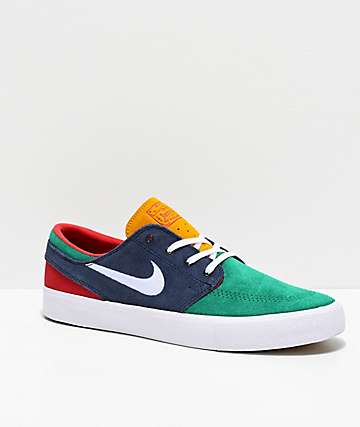Nike SB Janoski RM Green, Obsidian & White Skate Shoes