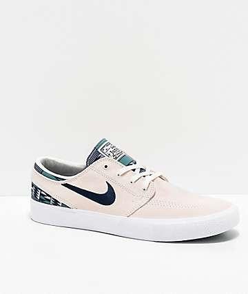 Nike SB Janoski RM Patchwork Summit White & Blue Skate Shoes