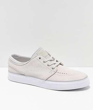 Nike SB Janoski White Suede Skate Shoes