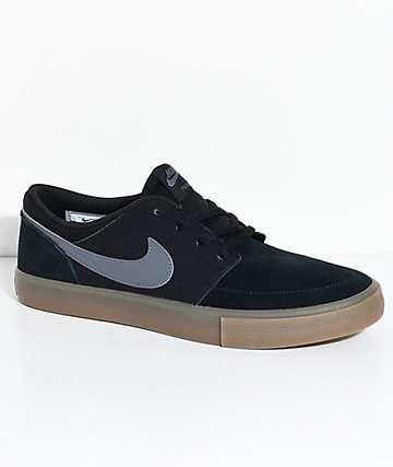 Nike SB Portmore II zapatos en negro y goma