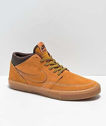 Nike SB Portmore Mid II Bronze & Gum Skate Shoes