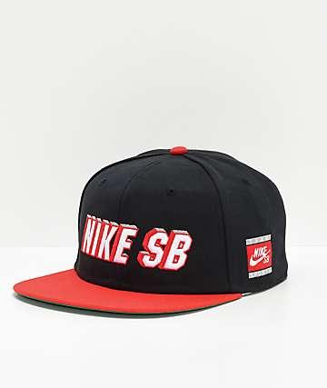 Nike SB Pro Cap Red & Black Snapback Hat