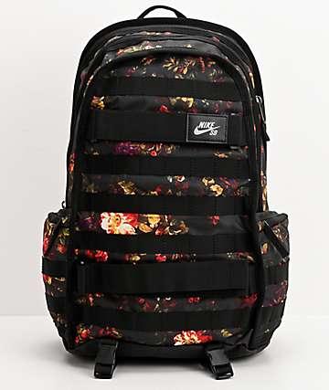 Nike SB RPM All Over mochila negra floral
