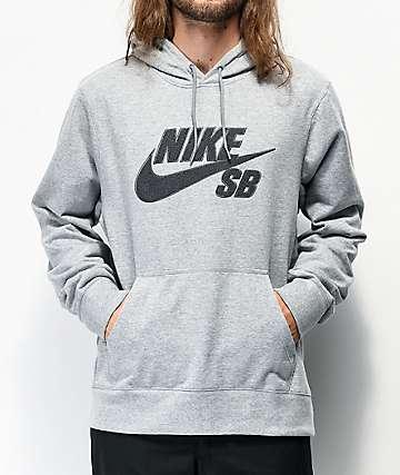 Nike SB Seasonal sudadera con capucha gris