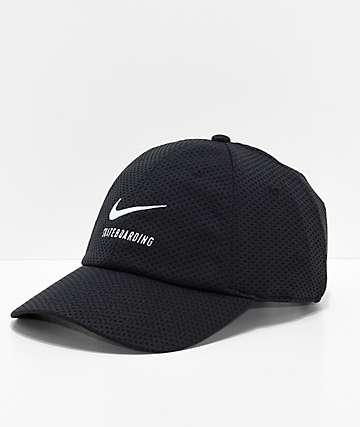 Nike SB Swoosh Black Mesh Strapback Hat