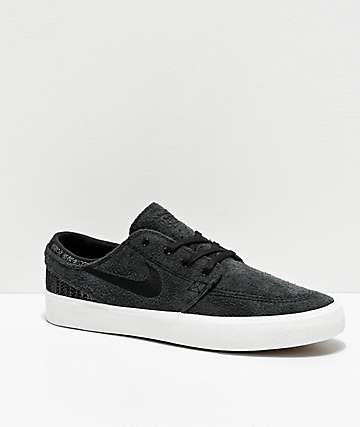 Nike SB Zoom Janoski RM Premium Black Skate Shoes