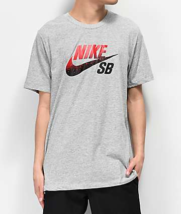 Nike SB x NBA Dri-Fit Logo Grey, Red & Black T-Shirt