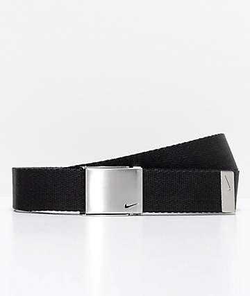 Nike cinturón tejido negro