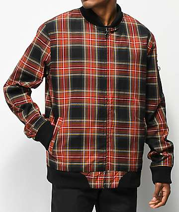 Ninth Hall Acres Plaid Bomber Jacket