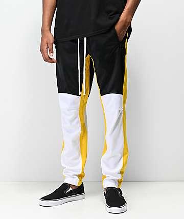 Ninth Hall Calibrate pantalones de chándal en negro, blanco y amarillo