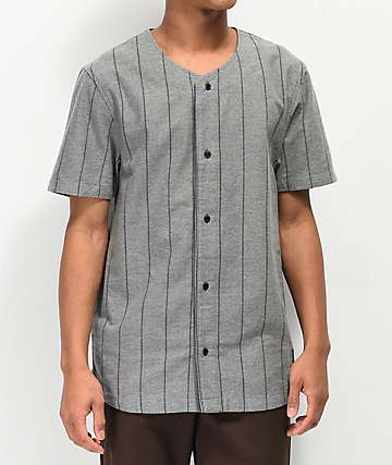 Ninth Hall Charles camiseta de béisbol gris y negra