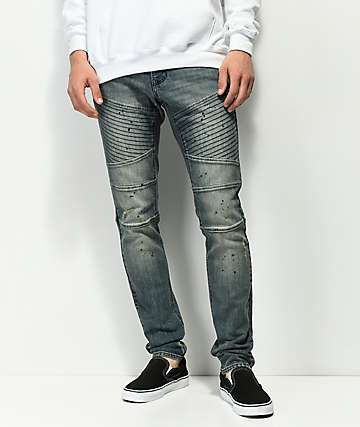 Ninth Hall Decoy Moto Clutch jeans azules