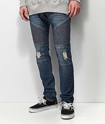 Ninth Hall Decoy Moto Throttle Dark Blue Jeans