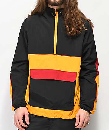 Ninth Hall Enduro Black, Red & Yellow Anorak Jacket
