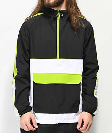 Ninth Hall Enduro Grey & Green Anorak Jacket