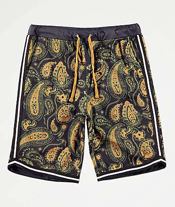 Ninth Hall Flex shorts de baloncesto negros de cachemir