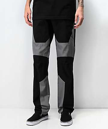Ninth Hall Gasline Moto Black Cargo Pants