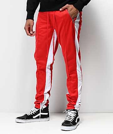 Ninth Hall Korberg Red & White Track Pants