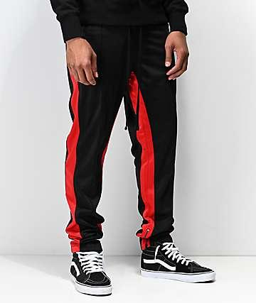 Ninth Hall Korberg pantalones de chándal en negro y rojo