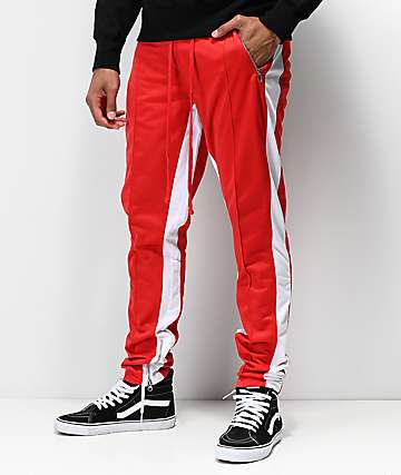 Ninth Hall Korberg pantalones de chándal en rojo y blanco