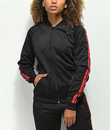 Ninth Hall Lena chaqueta de chándal negra y roja