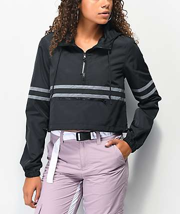 Ninth Hall Malia Black Crop Anorak Jacket