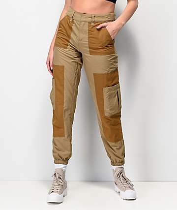 Ninth Hall Marnie Colorblock Khaki Cargo Jogger Pants