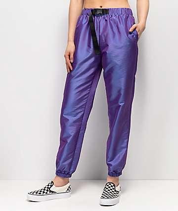Ninth Hall Mellie pantalones de chándal morados iridiscentes