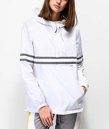 Ninth Hall Milas White & Reflective Striped Anorak Jacket