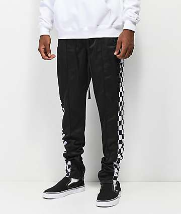 Ninth Hall Nordberg Black Checkerboard Track Pants