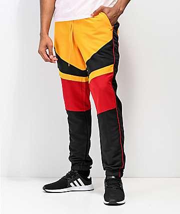 Ninth Hall Octane pantalones de chándal amarillos, rojos y negros