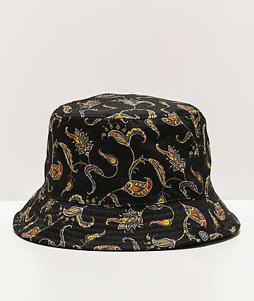 Ninth Hall Pause Paisley Black Bucket Hat