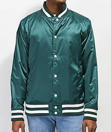 Ninth Hall Polished Green Varsity Jacket