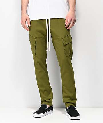 Ninth Hall Private Olive Elastic Waist Cargo Pants
