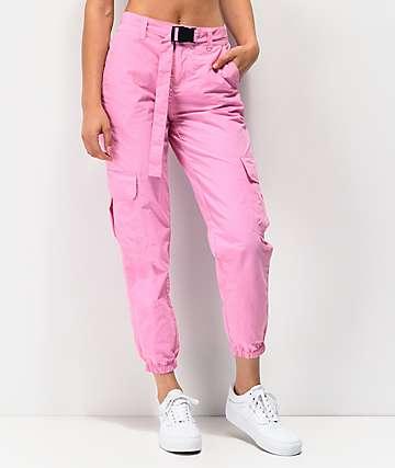 Ninth Hall Raines pantalones rosas con cinturón