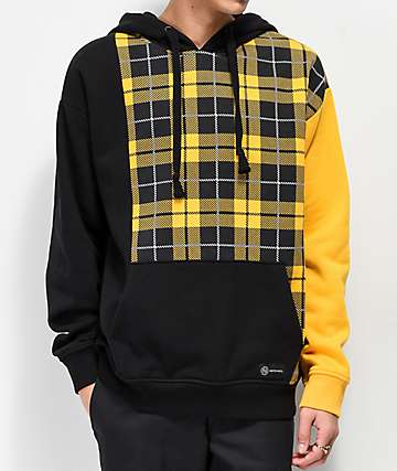 Ninth Hall Remix Plaid Black & Gold Hoodie