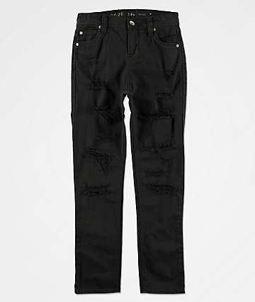 Ninth Hall Rogue jeans ajustados de mezclilla negra para niños