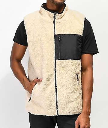 Ninth Hall Shaggy Beige Vest