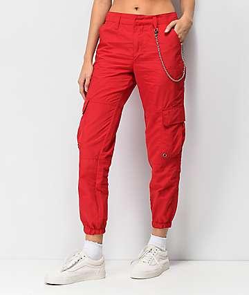 Ninth Hall Talia pantalones rojos
